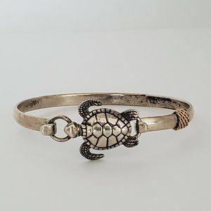 14K Yellow Gold Sterling Silver Turtle Bracelet